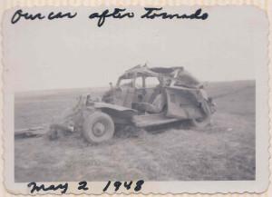 Mundy Car after Tornado May 2 1948